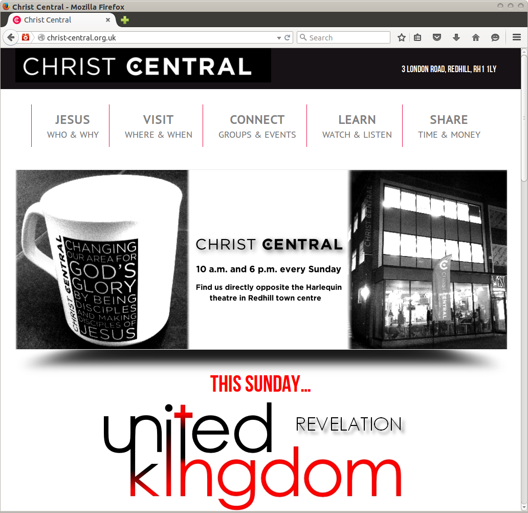 Christ Central Church website