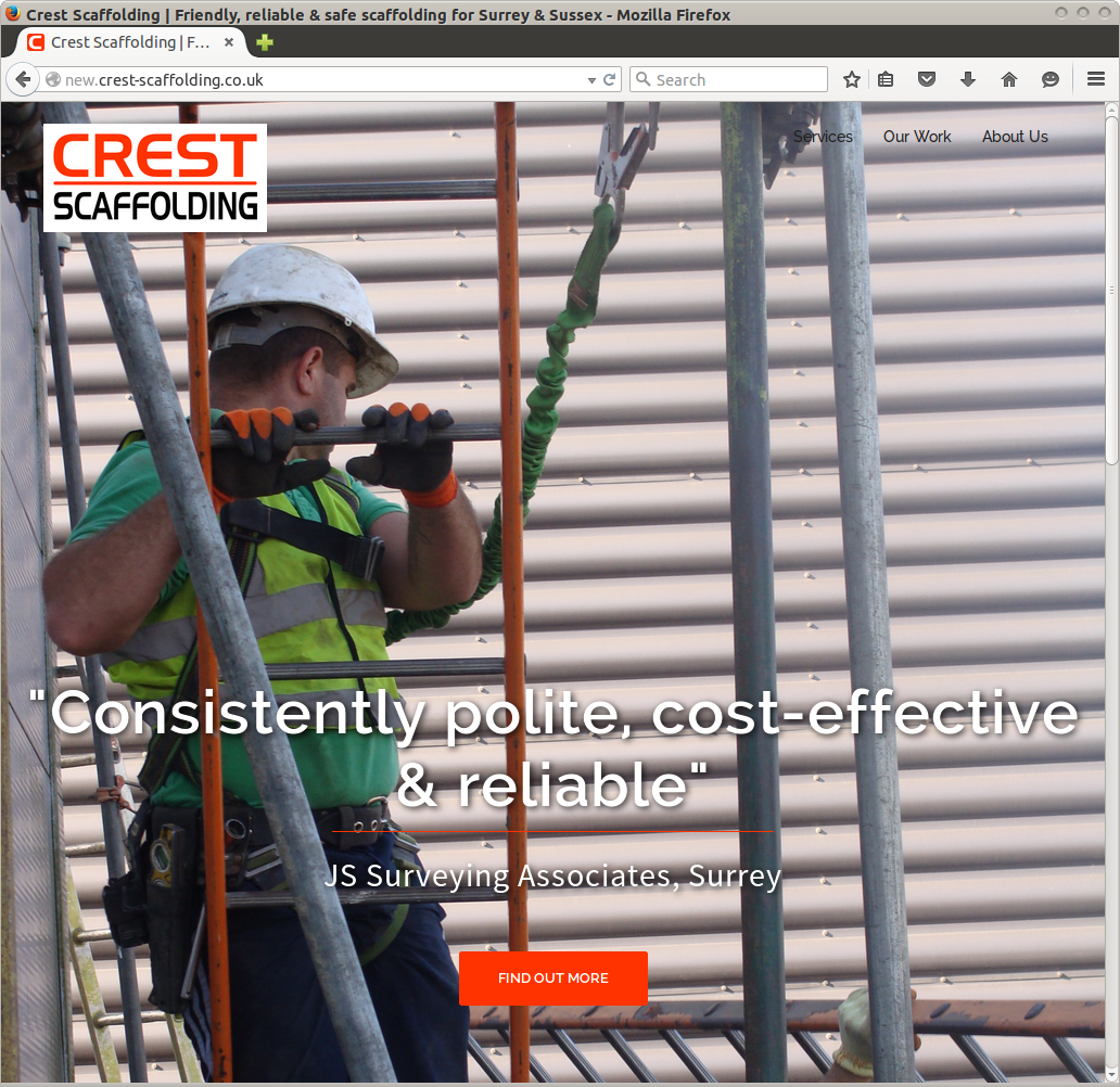 Crest Scaffolding website