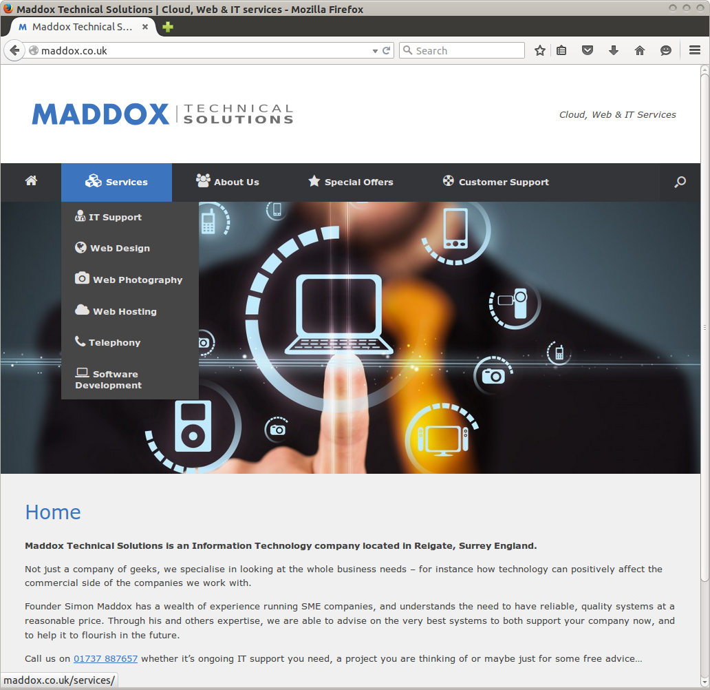 Maddox Technical Solutions website